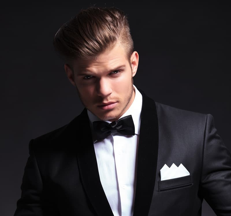 gatsby inspired pompadour hairstyle