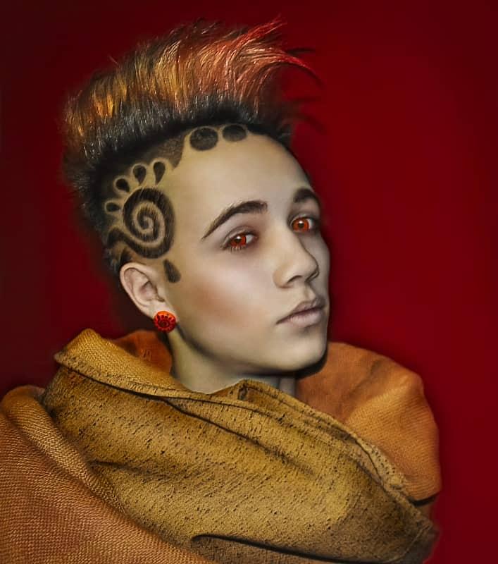 funky hair design for guys