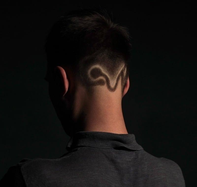 nape hair design for men