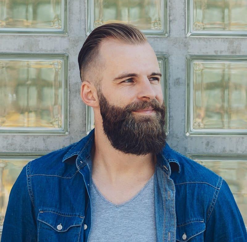 slickback hairstyle for balding men