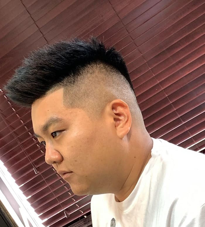 spiky haircut for man with fat face