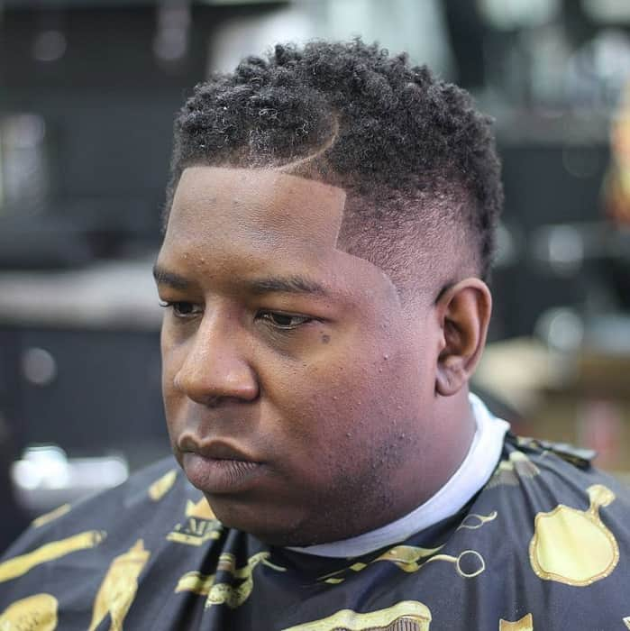 curly haircut for man with fat face
