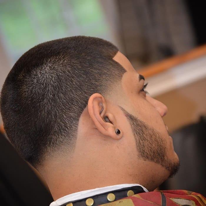 Semi bald haircut