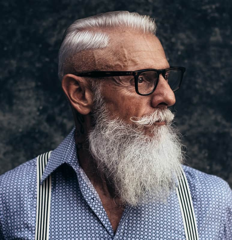 hard part haircut for older men