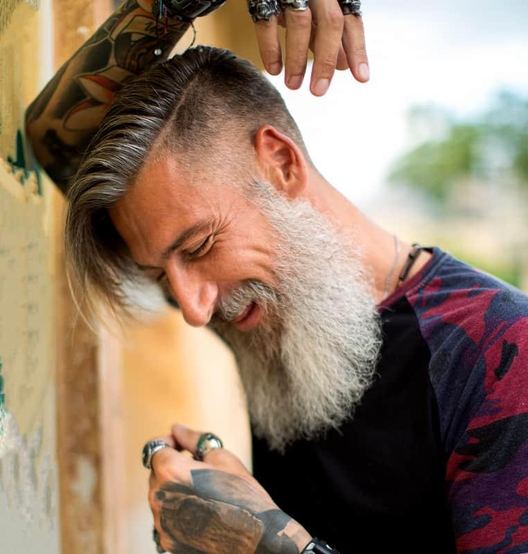 men's hard part haircut
