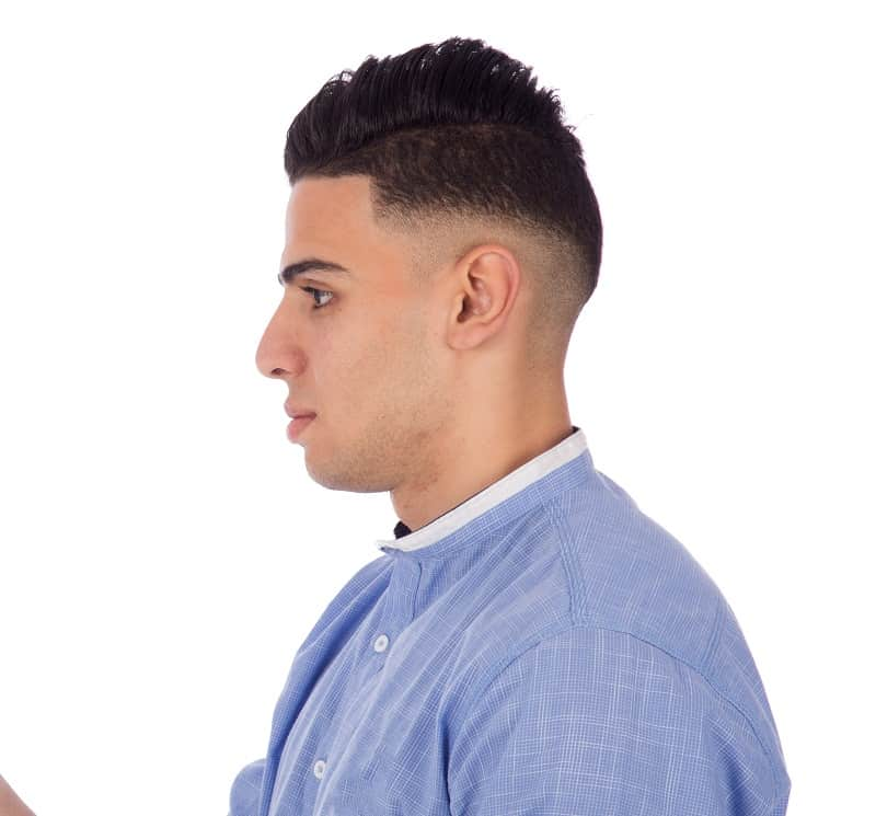 tapered high top haircut
