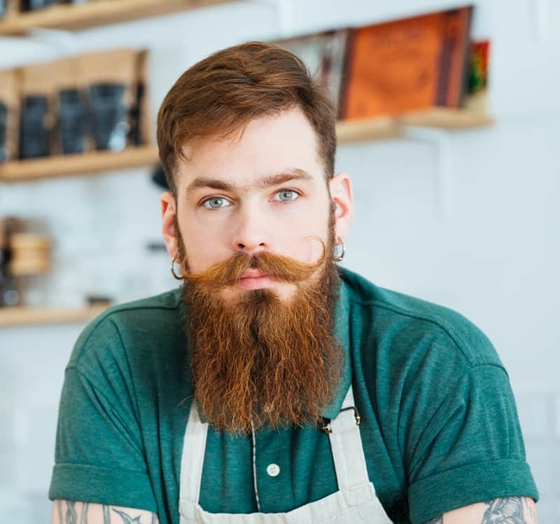 hipster beard with mustache