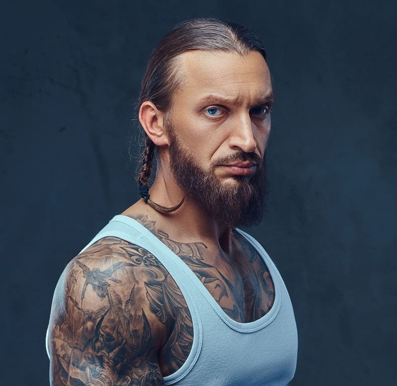 braided hipster hairstyle for men