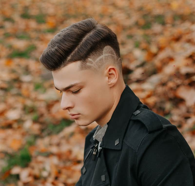 line up haircut with fade