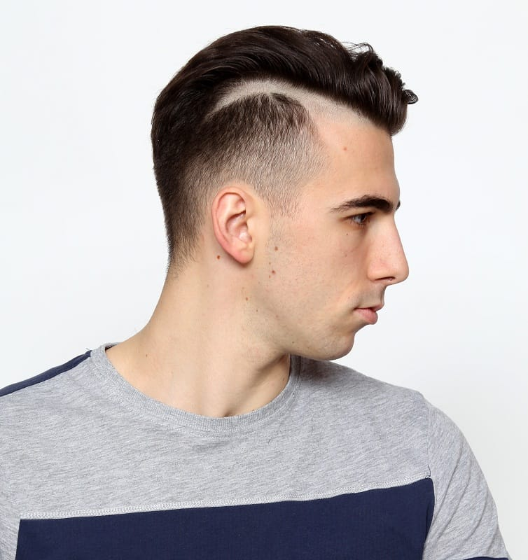 line up haircut for men
