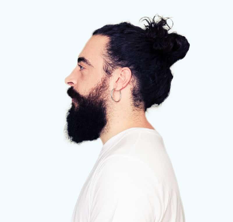 hipster man bun
