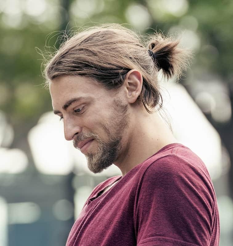 men's ponytail