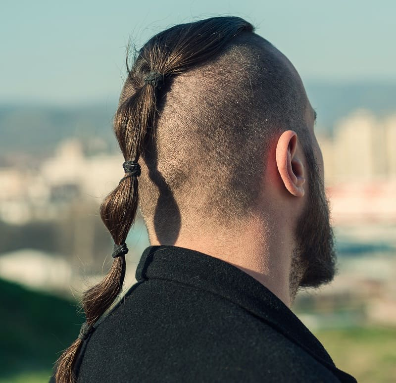 men's mohawk ponytail