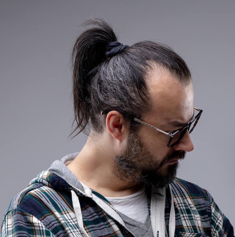 man ponytail for receding hairline