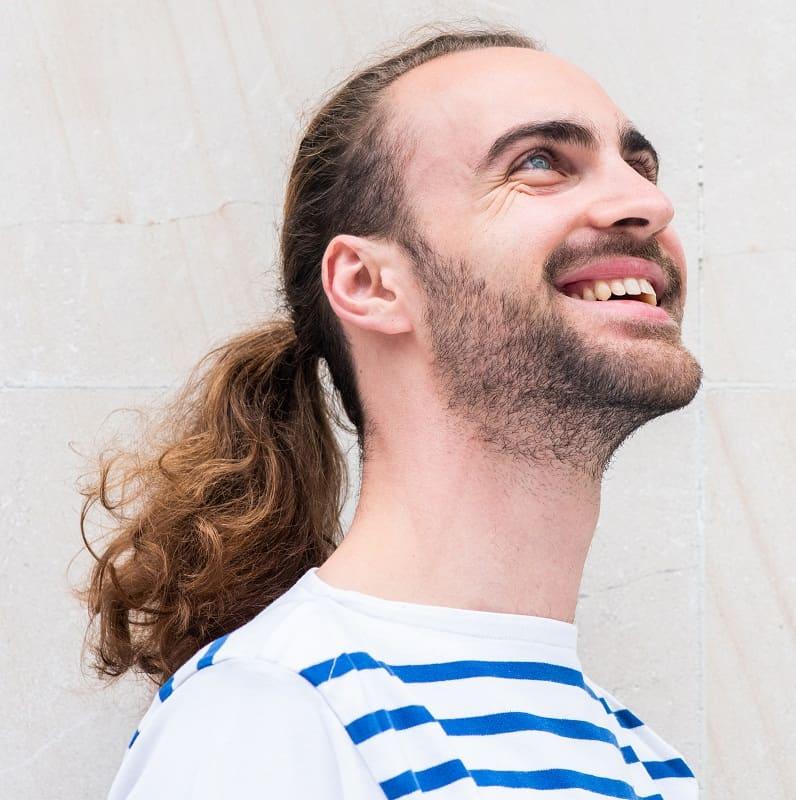 man ponytail style