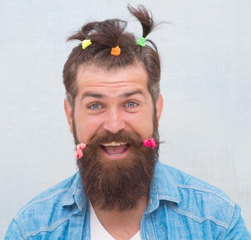 multiple ponytail for men