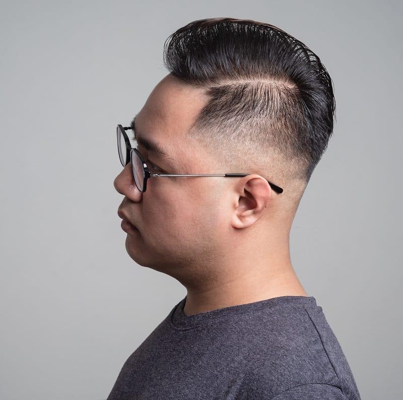 asian guy with medium fade haircut