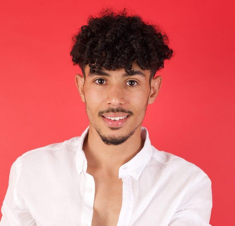 curly bangs for men