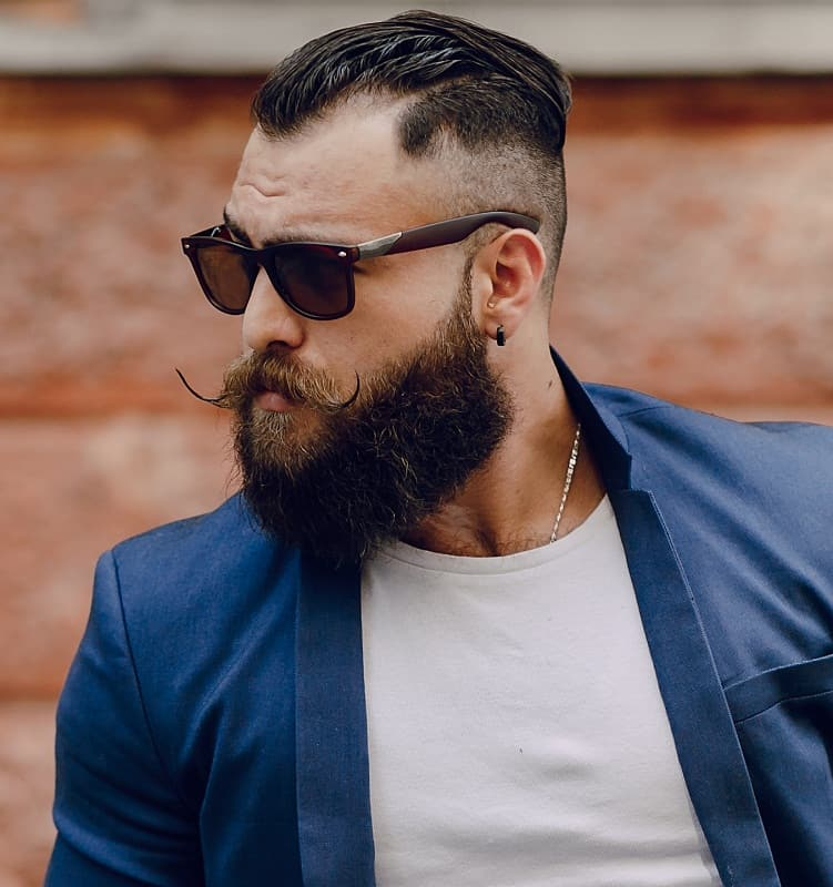 hipster men's temp fade haircut