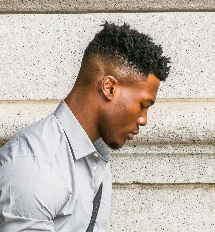 black men's fade hairstyle
