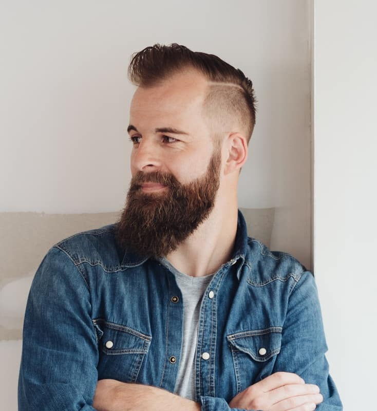 men's thinning hairstyle idea