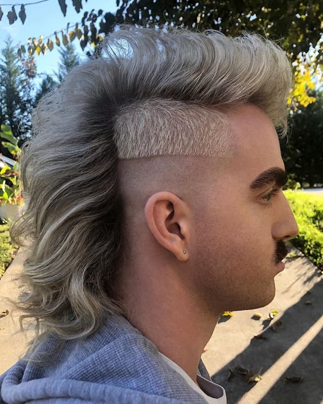 mohawk mullet with fade