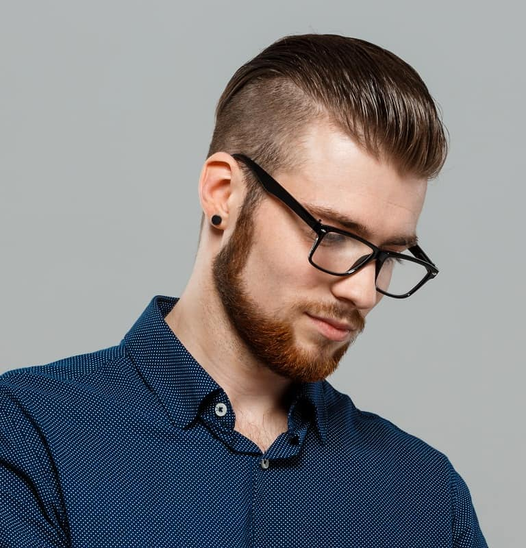 professional slick back hairstyle for men