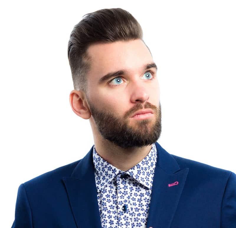 men's professional pompadour hairstyle