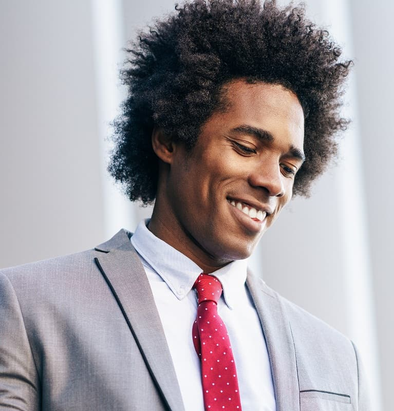hairstyle for professional black men
