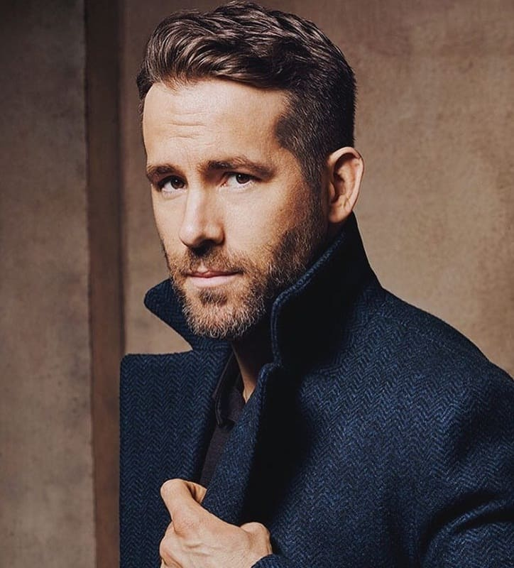 ryan reynolds short hairstyle