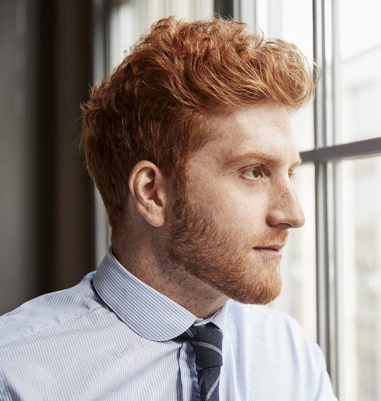 short ginger beard