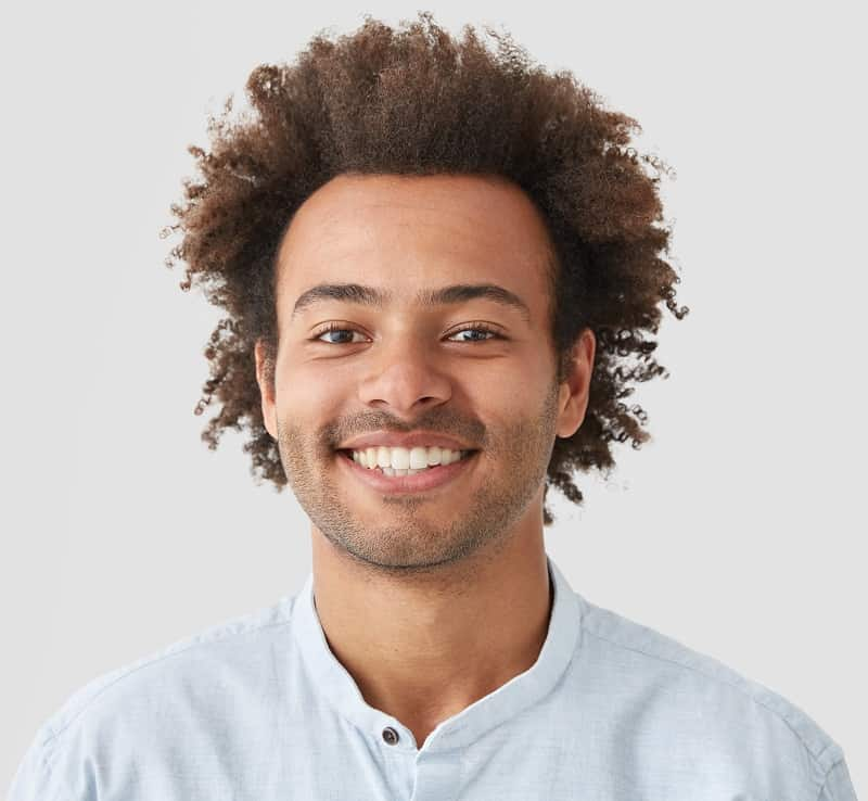 short curly afro haircut for guys