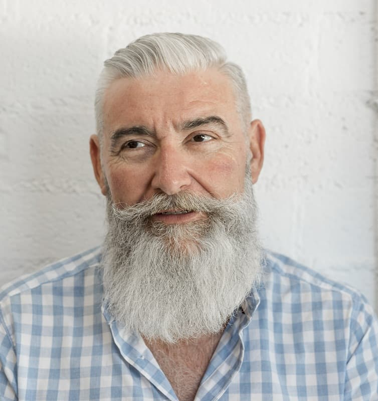 slick back haircut for older men