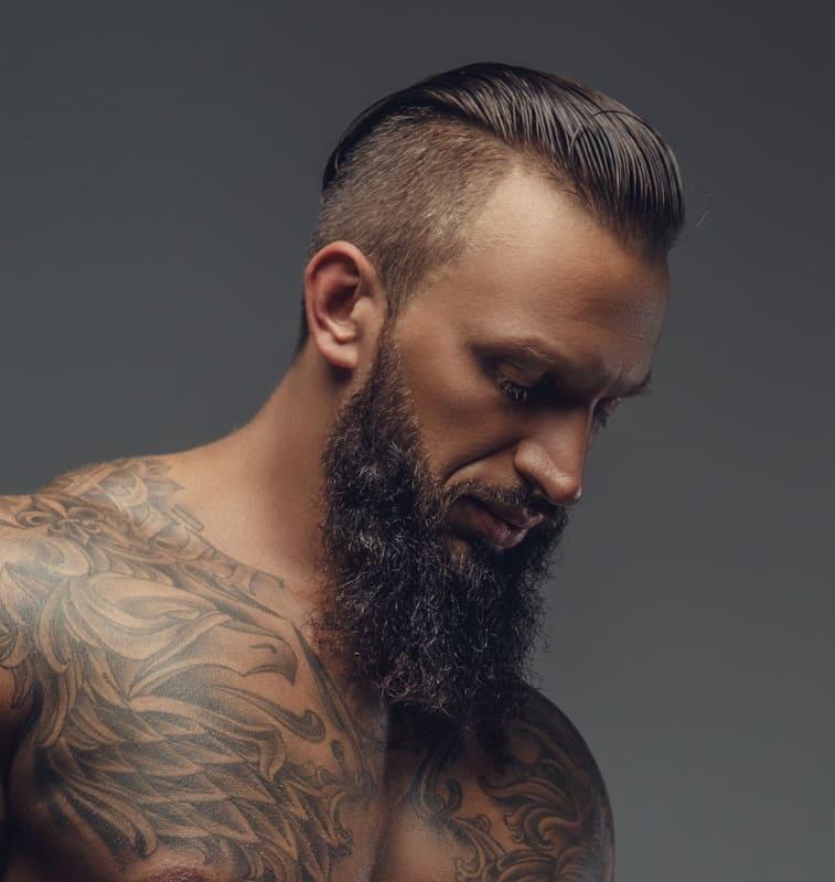 undercut with slick back hair