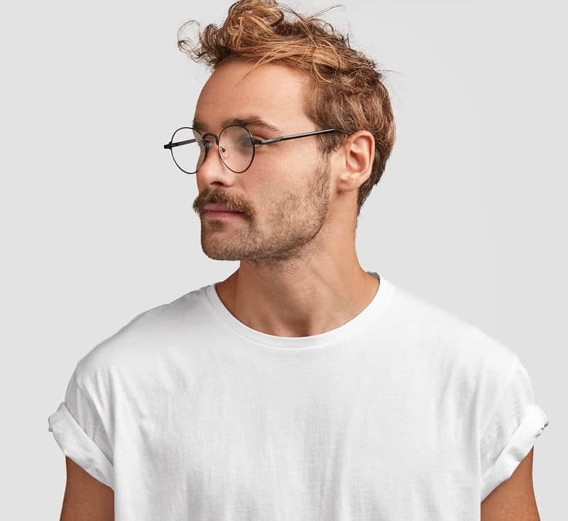 patchy stubble beard