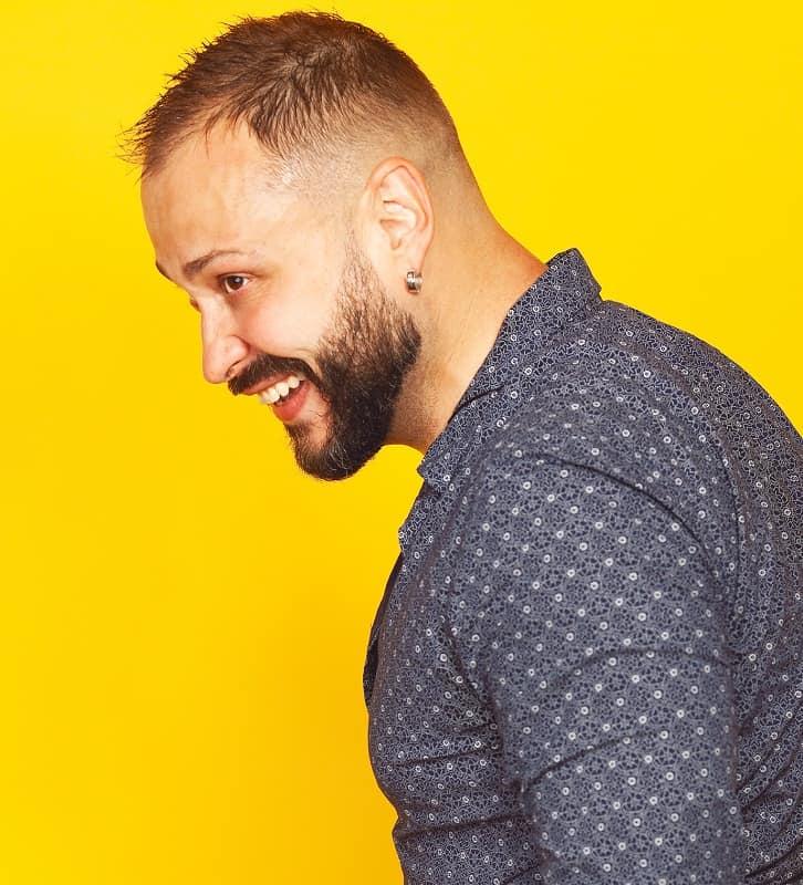 low taper fade haircut for men