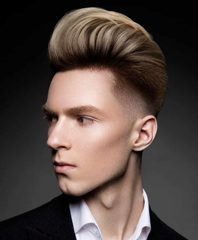 pompadour for guys with thick hair