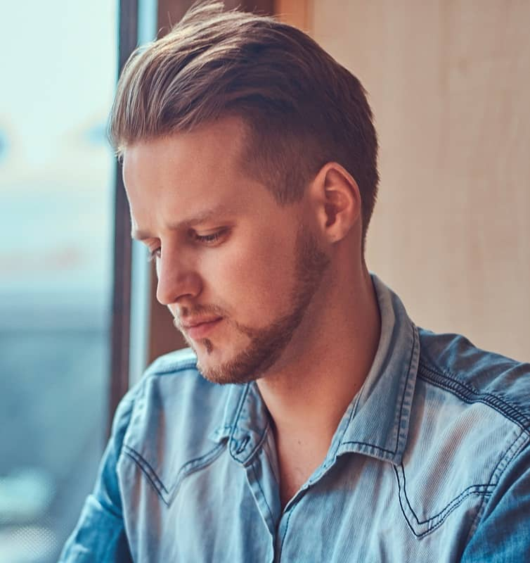 hipster guy with undercut