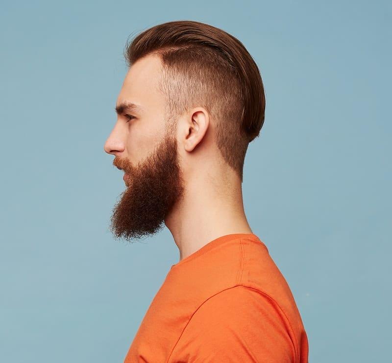 slick back v shape hairstyle