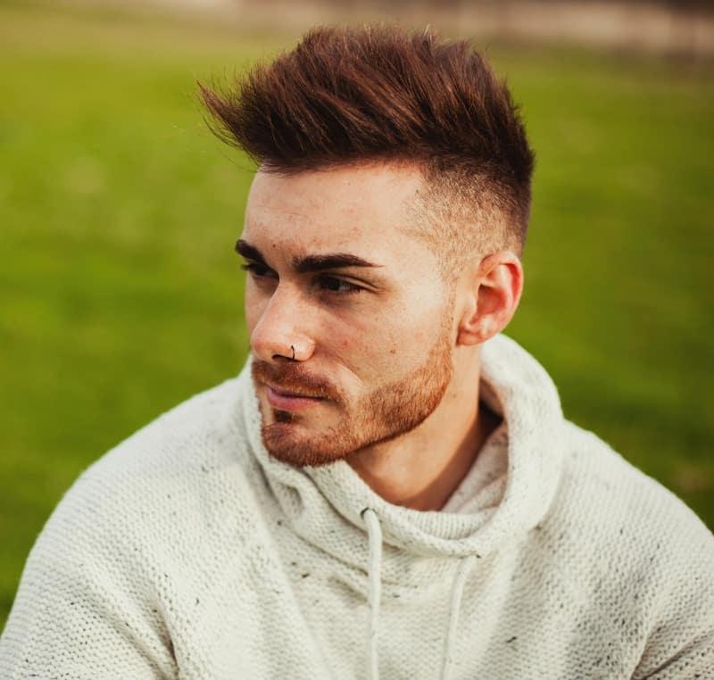 men's hairstyle for widows peak
