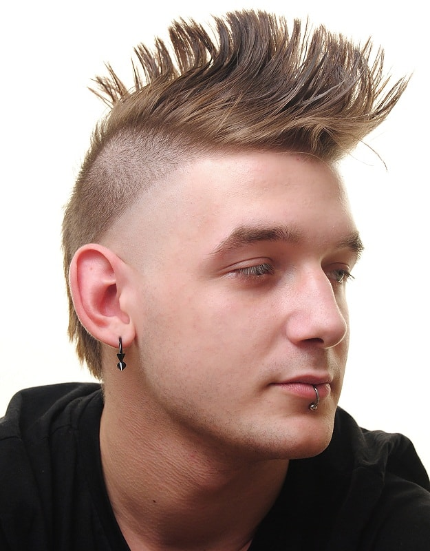 spiky mohawk haircut for guys