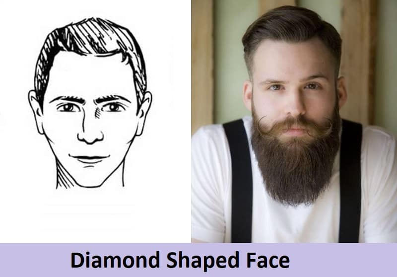 long beard for diamond face shape