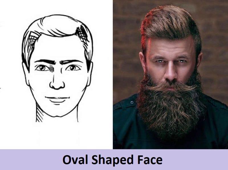 long beard for oval face shape
