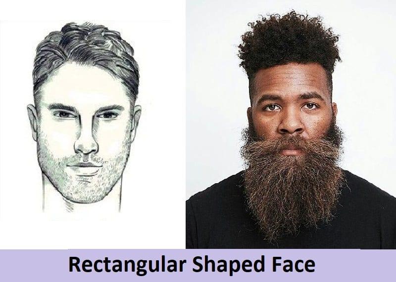 long beard for rectangular face shape