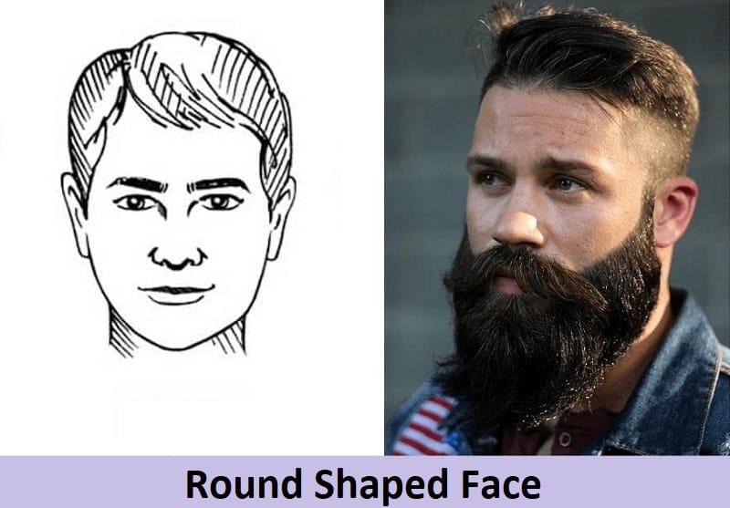 long beard for round face shape