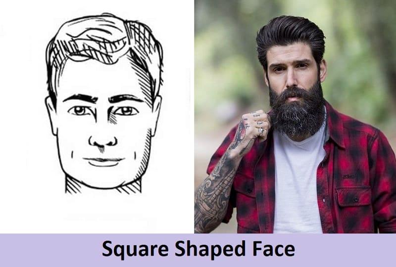 long beard for square face shape