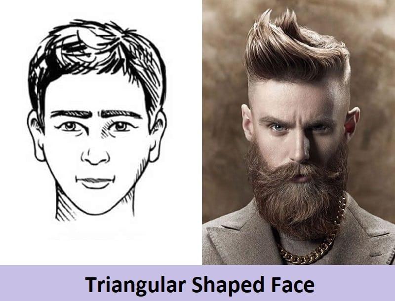 long beard for triangular face shape