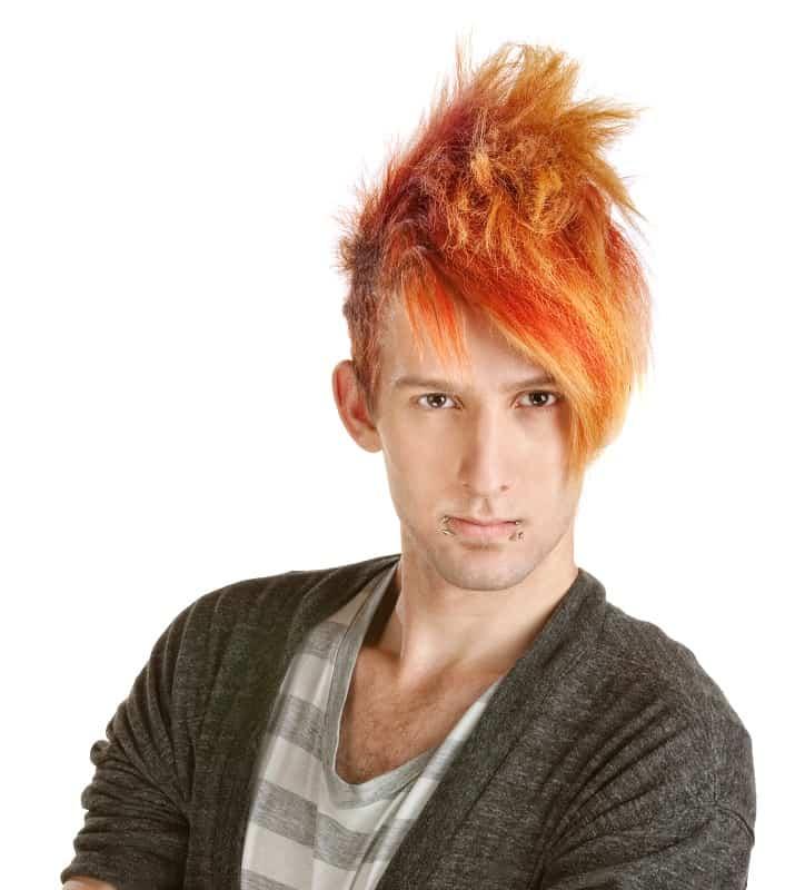 punk men's hairstyle