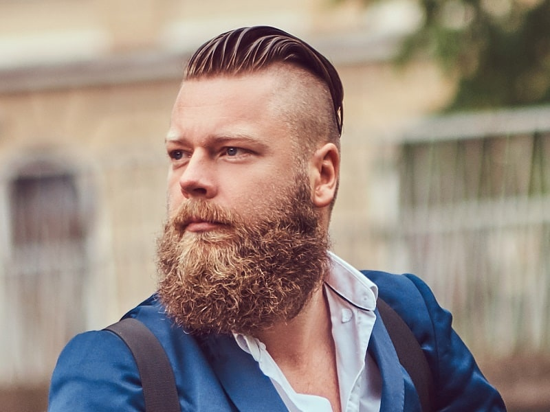 undercut hairstyle for man with round face