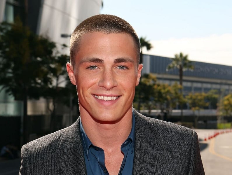 buzz cut for men with square face shape